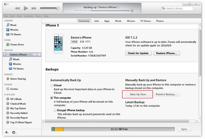 Как обновить айфон 5с через айтюнс - 029a
